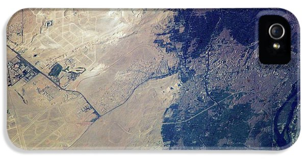 Giza Plateau And Cairo IPhone 5 Case by Nasa