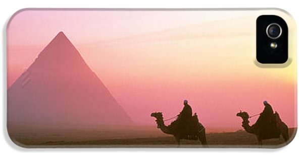 Giza Pyramids Egypt IPhone 5 Case by Panoramic Images