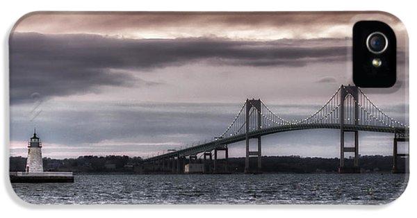 Goat Island Lighthouse And Newport Bridge IPhone 5 Case