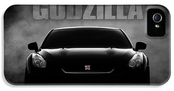Car iPhone 5 Case - Godzilla by Douglas Pittman