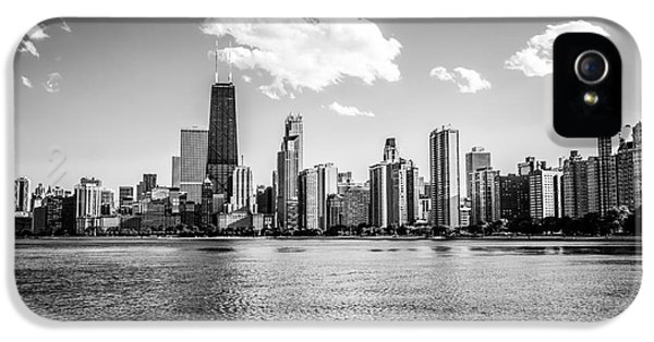 Hancock Building iPhone 5 Case - Gold Coast Skyline In Chicago Black And White Picture by Paul Velgos