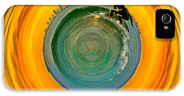 Gold Coast Surfer Circagraph IPhone 5 Case by Az Jackson