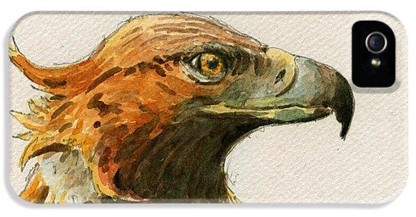 Mouse iPhone 5 Case - Golden Eagle by Juan  Bosco