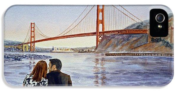 Golden Gate Bridge San Francisco - Two Love Birds IPhone 5 Case