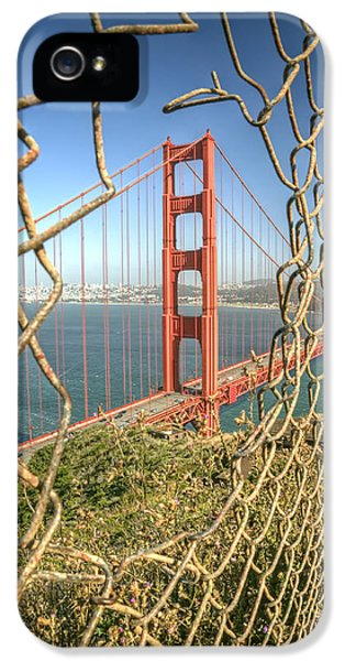 Golden Gate Through The Fence IPhone 5 Case by Scott Norris