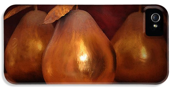 Golden Pears I IPhone 5 Case by April Moen