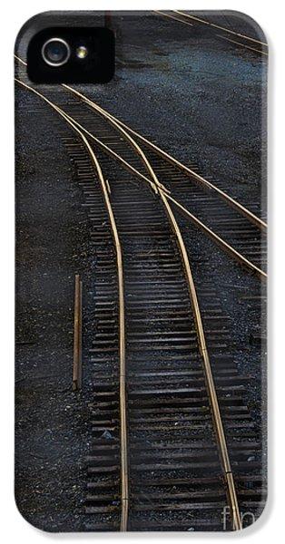 Train iPhone 5 Case - Golden Tracks by Margie Hurwich