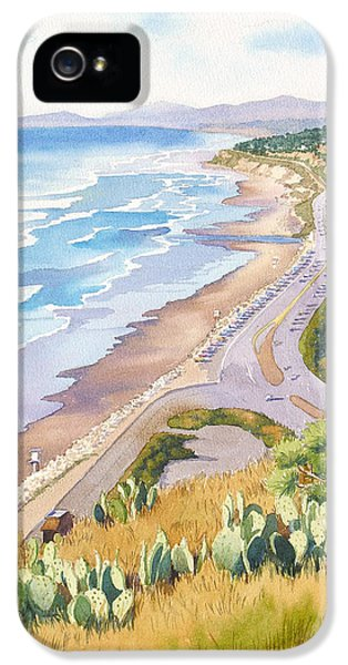 Pacific Ocean iPhone 5 Case - Golden View From Torrey Pines by Mary Helmreich
