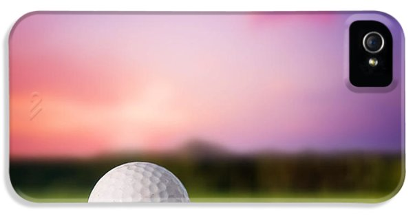 Golf Ball On Tee At Sunset IPhone 5 Case by Michal Bednarek