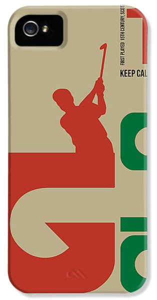 Golf iPhone 5 Case - Golf Poster by Naxart Studio
