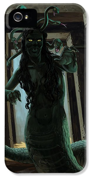 Gorgon Medusa IPhone 5 Case by Martin Davey