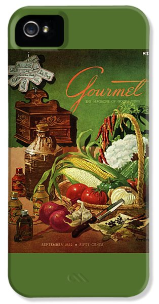 Gourmet Cover Featuring A Variety Of Vegetables IPhone 5 Case by Henry Stahlhut