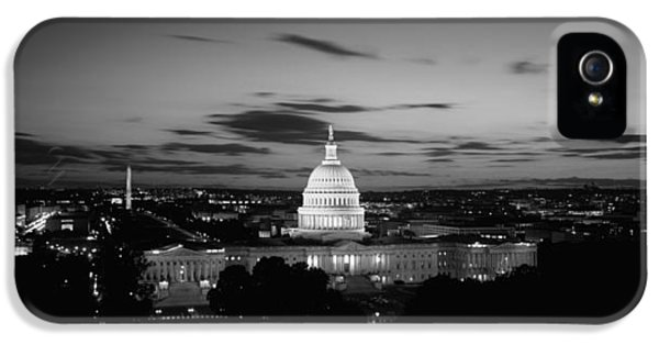 Government Building Lit Up At Night, Us IPhone 5 Case by Panoramic Images
