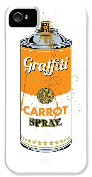 Carrot iPhone 5 Case - Graffiti Carrot Spray Can by Gary Grayson