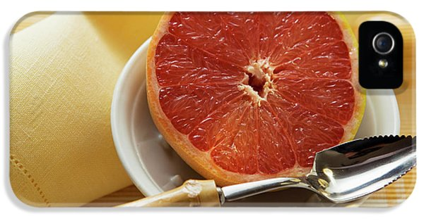 Grapefruit Half With Grapefruit Spoon In A Bowl IPhone 5 Case