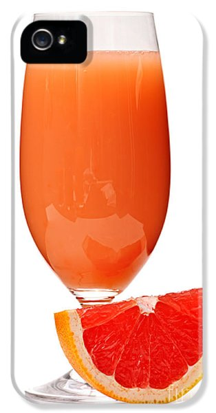 Grapefruit Juice In Glass IPhone 5 / 5s Case by Elena Elisseeva