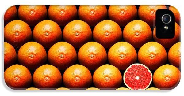 Grapefruit Slice Between Group IPhone 5 Case by Johan Swanepoel