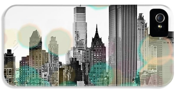 Office Buildings iPhone 5 Case - Gray City Beams by Susan Bryant