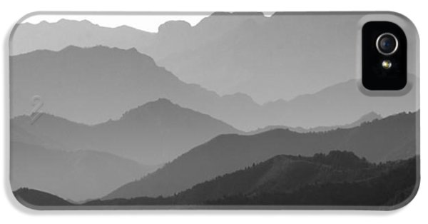 Great Wall Of China - Mountain Layers IPhone 5 Case by Brendan Reals