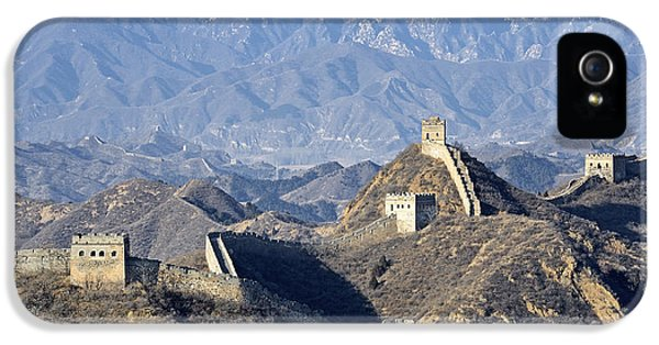 Great Wall Of China - Mountain Scene IPhone 5 Case by Brendan Reals