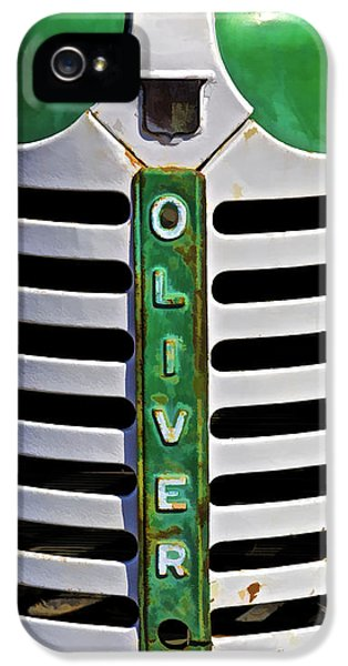 Oliver Tractor iPhone 5 Case - Green Oliver Farm Tractor by David Letts