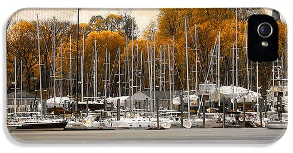 Greenwich Bay Harbor In Rhode Island IPhone 5 Case by Lourry Legarde