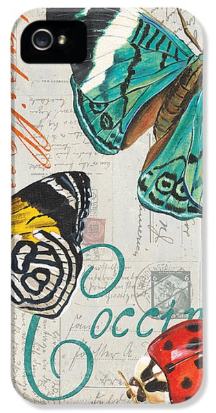 Grey Postcard Butterflies 2 IPhone 5 Case