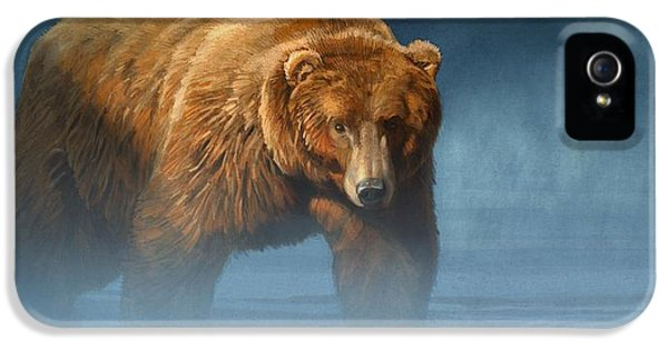 Grizzly Encounter IPhone 5 Case by Aaron Blaise