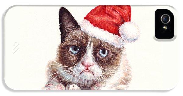 Grumpy Cat As Santa IPhone 5 Case