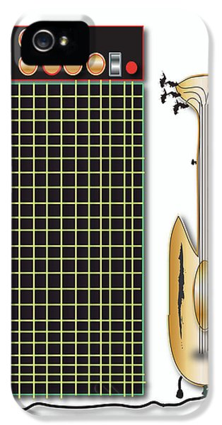 IPhone 5 Case featuring the digital art Guitar And Amp by Marvin Blaine