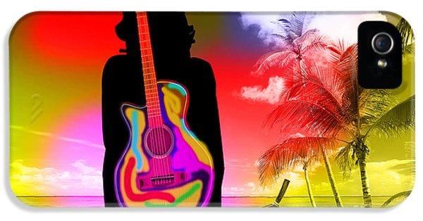 Guitar Girl At Beach IPhone 5 Case