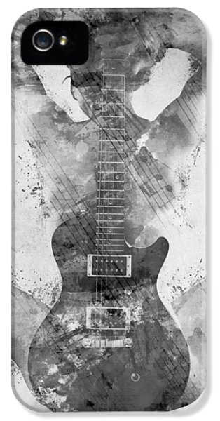Guitar Siren In Black And White IPhone 5 Case