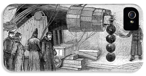 Gun Electromagnet, 19th Century IPhone 5 Case by Spl