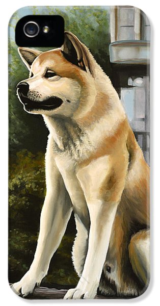 Hachi Painting IPhone 5 Case by Paul Meijering