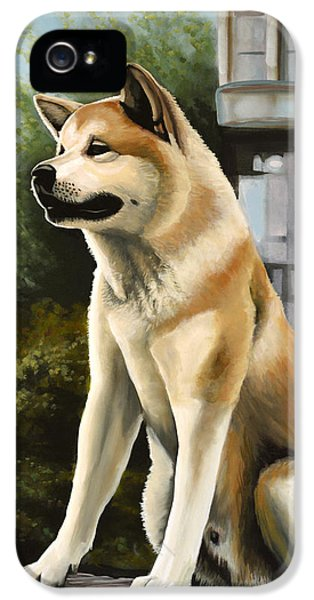 Hachi Painting IPhone 5 / 5s Case by Paul Meijering