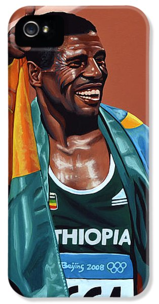 Haile Gebrselassie IPhone 5 Case by Paul Meijering