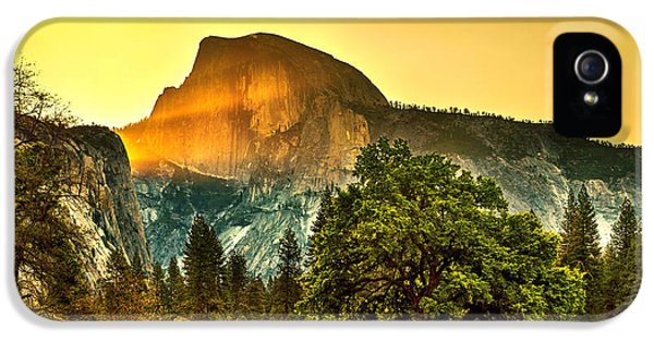 Featured Images iPhone 5 Case - Half Dome Sunrise by Az Jackson