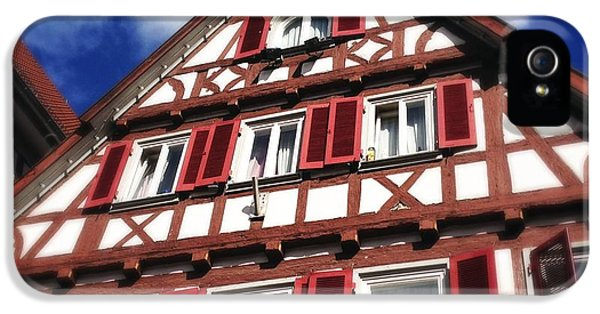 House iPhone 5 Case - Half-timbered House 09 by Matthias Hauser