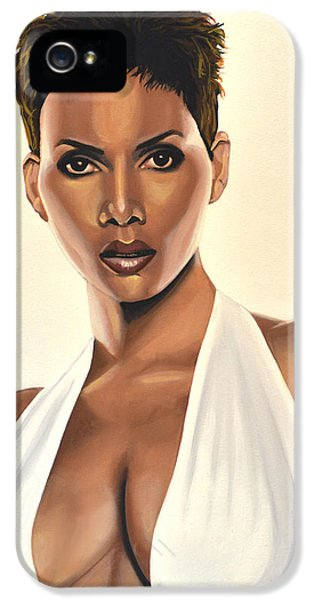 Halle Berry Painting IPhone 5 / 5s Case by Paul Meijering