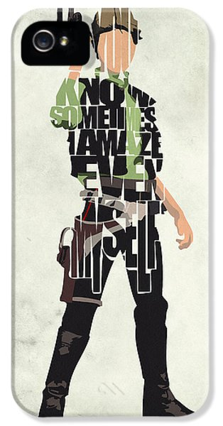 Han Solo Vol 2 - Star Wars IPhone 5 Case by Ayse Deniz