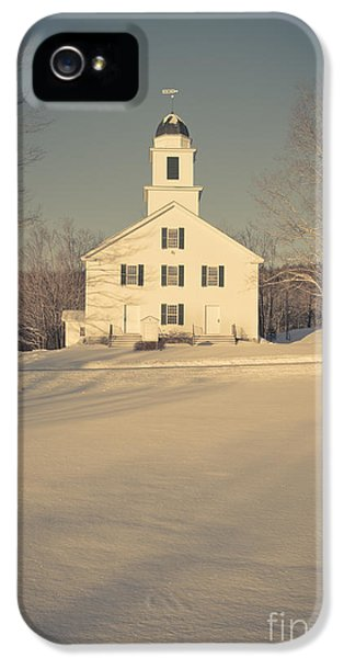 Etna iPhone 5 Case - Hanover Center Church Etna New Hampshire by Edward Fielding