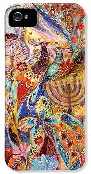 Hanukkah In Magic Garden IPhone 5 Case by Elena Kotliarker