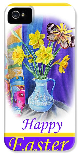 Happy Easter Daffodils IPhone 5 Case