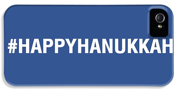 Happy Hanukkah Hastag IPhone 5 Case by Linda Woods