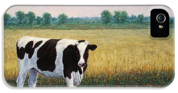 Cow iPhone 5 Case - Happy Holstein by James W Johnson