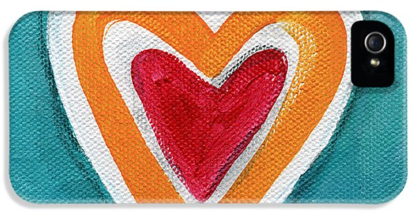 Happy Love IPhone 5 Case by Linda Woods