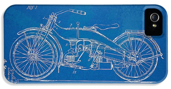 Harley-davidson Motorcycle 1924 Patent Artwork IPhone 5 Case by Nikki Marie Smith