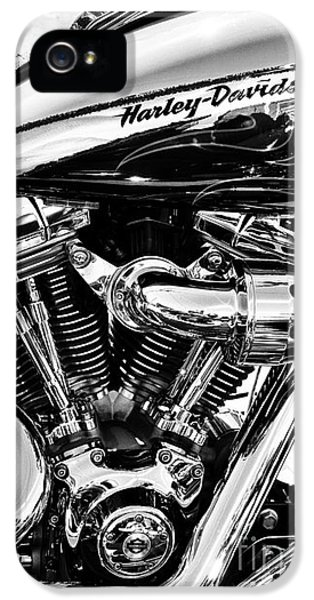 White iPhone 5 Case - Harley Monochrome by Tim Gainey