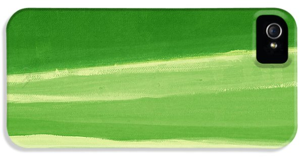 Harmony In Green IPhone 5 Case by Linda Woods