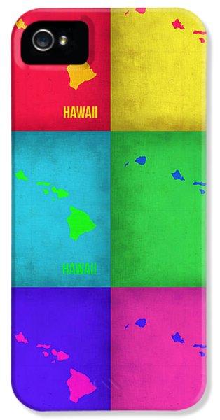 Hawaii Pop Art Map 1 IPhone 5 Case by Naxart Studio